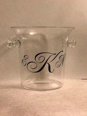 Monogrammed Small Acrylic Ice Bucket