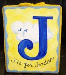 """J is for"" PAINTING BY TIRK-8""x10""-PERSONALIZED ORIGINAL"