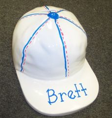 PERSONALIZED LARGE HAND PAINTED CAP BANK