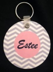 MONOGRAM/NAME ROUND ACRYLIC KEY RING