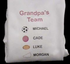 Imprinted Dad's Team Tee
