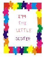 IMPRINTED BIG/LIL BROTHER/SISTER IMPRINTED TEE-PUZZLE FRAME MOTIF