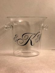 Large Monogrammed Acrylic Ice Bucket