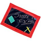 PERSONALIZED CHALKBOARD PLACEMAT- RED (with chalk)