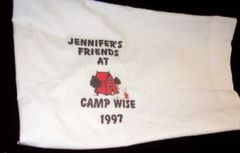 PERSONALIZED (AUTOGRAPHABLE) CAMP PILLOWCASE-TENT- (IYT ORIGINAL)