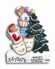 Drama (Acting) Personalized Ornament