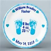 "PERSONALIZED BABY BOY PLATE - 8"" PORCELAIN"