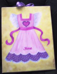 "ORIGINAL PINAFORE PAINTING BY TIRK-11""X14"" - PERSONALIZED"