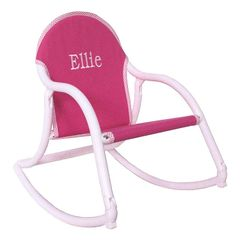 Rocker- Pink Canvas- Embroidered