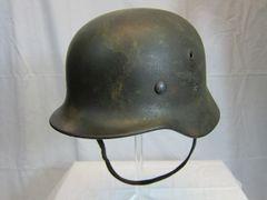 WWII German M-40 Luftwaffe Camouflage Single Decal Helmet - ORIGINAL RARE -