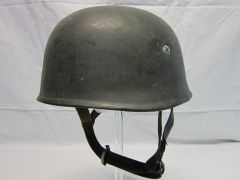 WWII German Paratrooper Helmet, Dark Grey Rough Texture Combat Finish -ORIGINAL RARE-