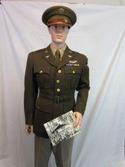 WWII Uniform of Lt. Vernon C. Jenner, Flew over 50 Combat Missions as a P-38 Fighter Pilot - ORIGINAL -