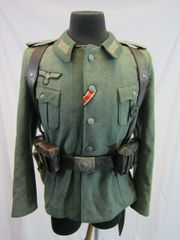 WWII German Army M36 Enlisted Tunic, with Gear, - ORIGINAL - SOLD