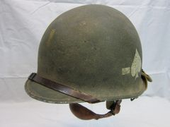 "WWII U.S. Paratroopers Helmet Steel Pot, Swivel Bale, Front Seam w/Westinghouse parachutists Liner, 506th PIR, 101 Division ""Screaming Eagles"", ID'd - ORIGINAL RARE- SOLD"