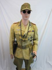 WWII German Army Officer's Uniform, Rommel's AfrikaKorps -ORIGINAL VERY RARE - SOLD -
