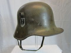 "WWII German M16 Waffen-SS Single Decal Transitional Helmet, ""Duckbill"" - ORIGINAL VERY RARE -"