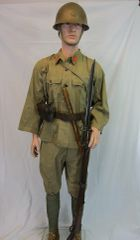 WWII Japanese Soldiers Complete Tropical Battle Uniform Group -ORIGINAL RARE -