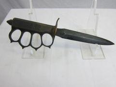 US WWI 1918 LF&C TRENCH KNIFE w/ LF&C SCABB - ORIGINAL