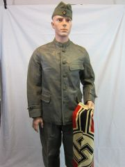 WWII German Kriegsmarine U-Boat Leather Jacket and Trouser Uniform, Dated 1942, - ORIGINAL -
