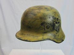 WWII German M-40 Heer Army Camouflage Helmet, Single Decal - ORIGINAL -SOLD