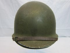 "WWII U.S. M1 Helmet Steel Pot, Fixed Bale, Front Seam w/Hawley Liner ""G"" General Fiber Complete, - ORIGINAL RARE- SOLD"