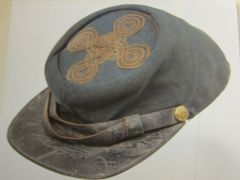 Civil War - Confederate Officers Kepi, Made by Boutrove of New Orleans, only one known to exist - ORIGINAL VERY RARE - SOLD -