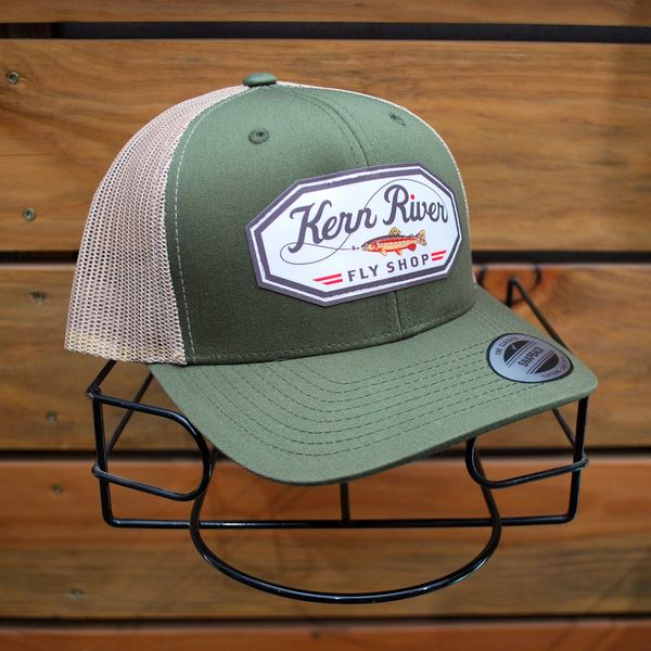 the latest 2c961 fb2ec Kern River Fly Shop Trucker Hat Sublimation Patch Moss   Kern River Fly  Fishing, Fly Shop, School, Guide Service, Flies