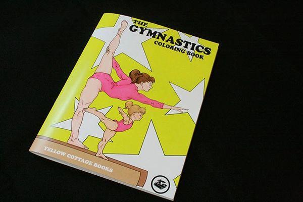 The gymnastics coloring book
