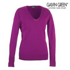 Galvin Green Ladies Sweater - Ciara V Neck Cable Long Sleeve Sweater