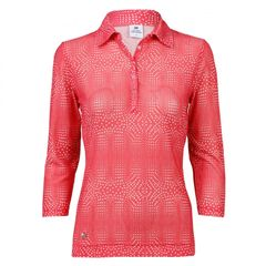Daily Sports Ladies Aggie Mesh 3/4 Sleeve Polo Shirt - 943/161