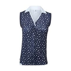 Daily Sports Ladies Spotty Sleeveless Ladies Golf Polo Shirt - 843/148