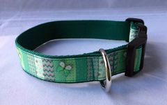 Butterfly and Pattern Handmade Dog Collar