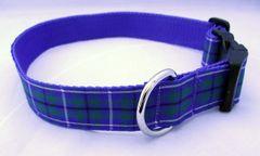 Douglas Ancient Tartan Dog Collar Handmade Plaid