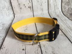 Cornish National Tartan Handmade Dog Collar Plaid