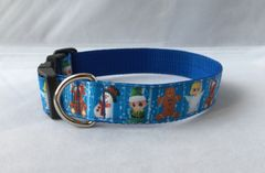 Christmas Figures Handmade Dog Collar