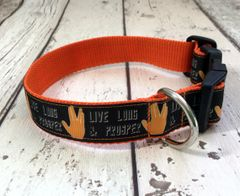 Live Long and Prosper Phrase Handmade Dog Collar