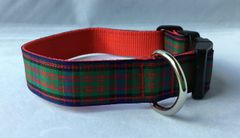 MacDonald Tartan Handmade Dog Collar Plaid
