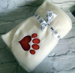 Personalised Dog Blanket Cream