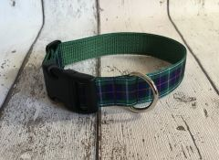 MacKenzie Tartan Dog Collar Handmade Plaid Outlander