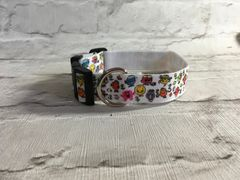 Handmade Mr Men & Little Misses Dog Collar