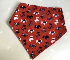 Dog Bandana Handmade Scottie Dog Fabric