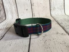 Lindsey Tartan Dog Collar Handmade Plaid