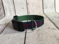 Lindsay Tartan Dog Collar Handmade Plaid