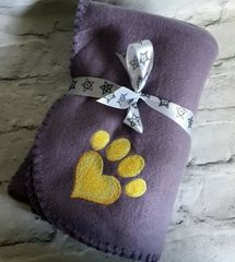 Personalised Dog Blanket Lilac