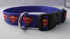 Handmade Superman Dog Collar
