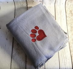 Personalised Dog Blanket Light Grey