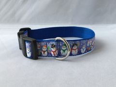 Snowmen Handmade Dog Collar