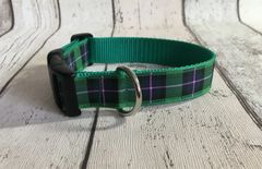 Hibernian Tartan Dog Collar Handmade Plaid