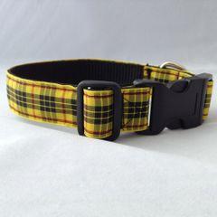 MacLeod Of Lewis Tartan Dog Collar Handmade Plaid