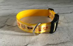 Handmade Emoji Faces Dog Collar